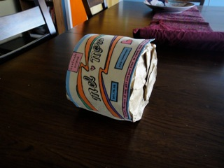 toilet paper roll on its side